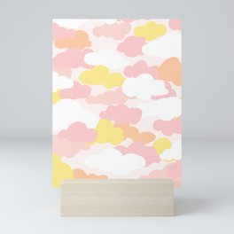 Pastel Serbert Cloud Pattern Mini Art Print