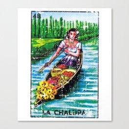 La Chalupa Mexican Loteria Bingo Card Canvas Print