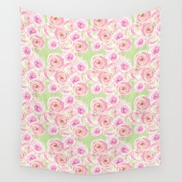 Blush Pink Bouquet Wall Tapestry
