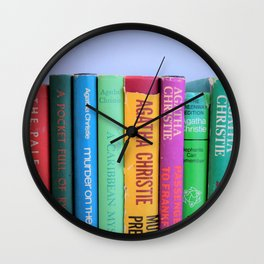 Row of Colorful Vintage Agatha's Wall Clock