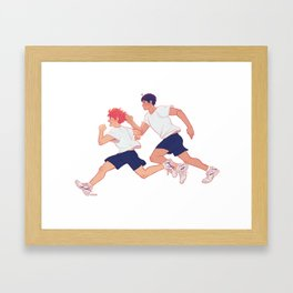 run boys run Framed Art Print