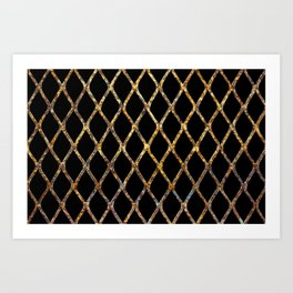 Rusty Corrugated Mesh Art Print
