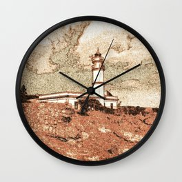 Lighthouse, Faro Ses Salines Wall Clock