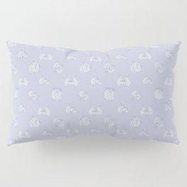 Bunny Threesome - Blue Print Pillow Sham