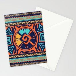 Colorful Hunab Ku Mayan symbol #2 Stationery Cards