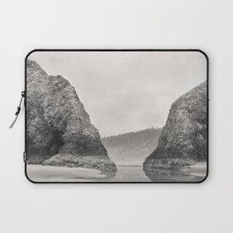 Tidal Pool Cannon Beach Oregon Coast Cave Forest Reflection Rocks Shoreline Nautical Northwest Pacif Laptop Sleeve