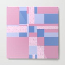SSLIDEE - Pink, Geometric, Kitsch, Pastel Metal Print