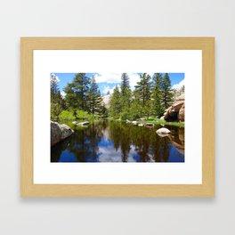 Fresh Rocky Mountain Snow Melt Lake Framed Art Print
