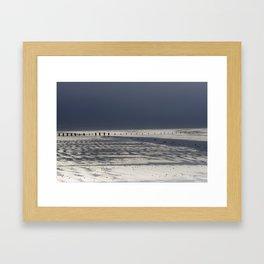 Berrow Beach Framed Art Print
