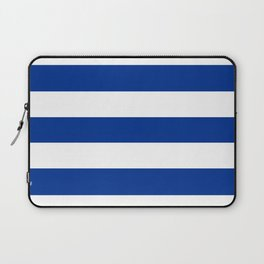 Air Force blue (USAF) -  solid color - white stripes pattern Laptop Sleeve