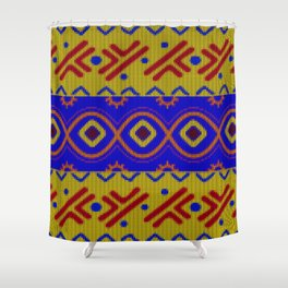 Ethnic African Knitted style design Shower Curtain
