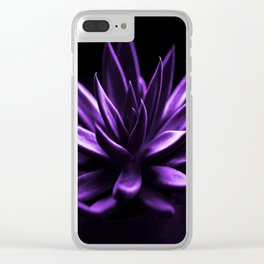 Succulent Plant In Purple Color #decor #society6 #homedecor Clear iPhone Case