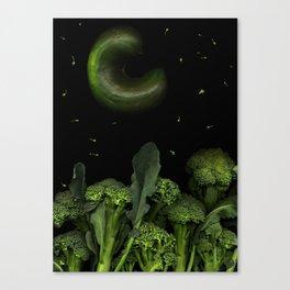 Moon over Broccoli Canvas Print
