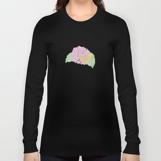 Hydrangeas and Butterflies - Such A Perfect Summer Day Long Sleeve T-shirt