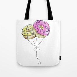 Doughnut Balloons Tote Bag