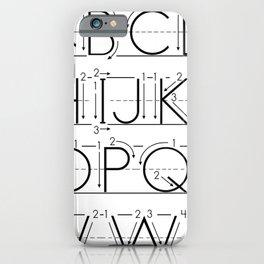 The Alphabet iPhone Case