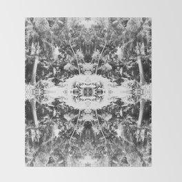 Black n White Boho Pattern Throw Blanket