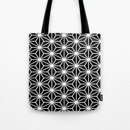 Geometric abstract modern black white stripes Tote Bag