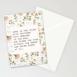 Hope is the thing with feathers - E. Dickinson Collection Stationery Cards