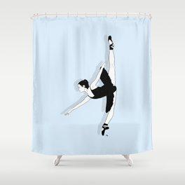 Blue Dancer Shower Curtain