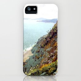 Golden Gate from the Ocean Cliffs of San Francisco by Theodore Wores - Vintage Painting iPhone Case