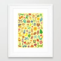 be happy Framed Art Prints featuring Happy by Vlad Stankovic