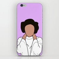 princess leia iPhone & iPod Skins featuring Princess Leia by Blancamccord