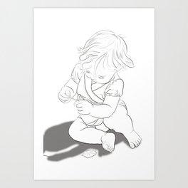 Girl in Nature #1 Art Print