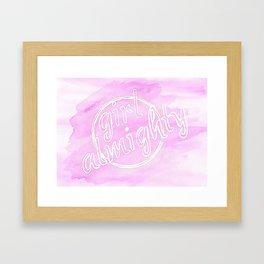 Girl Almighty Framed Art Print