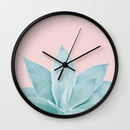 Blush Agave #2 #tropical #decor #art #society6 Wall Clock