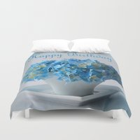 hydrangea Duvet Covers featuring Hydrangea by Fine Art by Rina