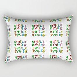 smile 4-smile,happy,fun,color,self esteem, good,positive,laugh,pleasure,joy Rectangular Pillow