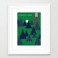 camping Framed Art Prints featuring Camping by pegeo