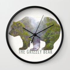 The Grizzly Bear Wall Clock