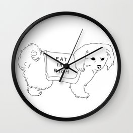 "Dog Says ""Eat the Rich"" Wall Clock"