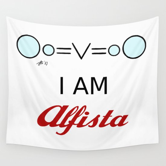 I AM Alfista Wall Tapestry