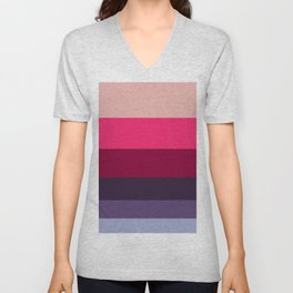 Wine Magenta Grape Purple Color-block Pattern Colour Block Stripes Unisex V-Neck
