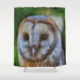 Tawny Owl In The Style of Camille Shower Curtain