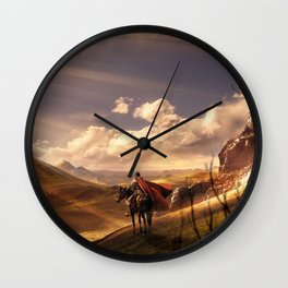 A Golden Realm Wall Clock
