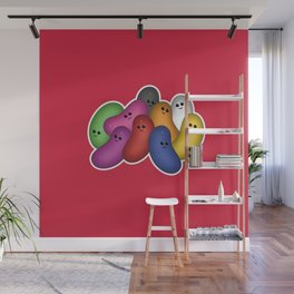 Happy Jelly Beans! (Red) Wall Mural