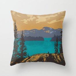 Killarney Park Poster Throw Pillow