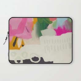 floral color study abstract art Laptop Sleeve