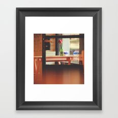 The table by the window Framed Art Print