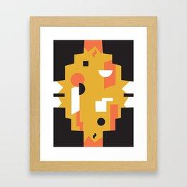 Techno Thunder Framed Art Print