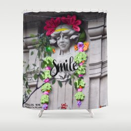 Smile - Cara Dura Proyect Shower Curtain