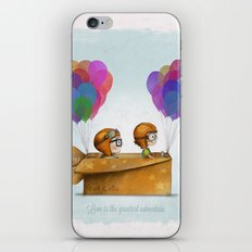 UP Pixar — Love is the greatest adventure  iPhone Skin
