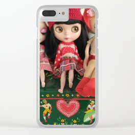blythe and vintage pose doll Clear iPhone Case