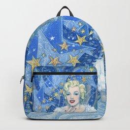 Marilyn, Old Hollywood, celebrity portrait Backpack