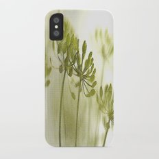 Something green and delicate Slim Case iPhone X
