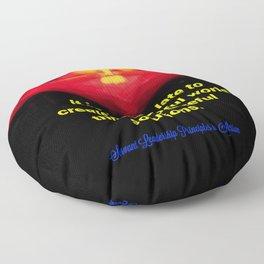 A Peaceful World Floor Pillow